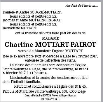 Charline mottart pairot de li ge annonce de d c s sur en m moire - Charline vanhoenacker vie privee ...